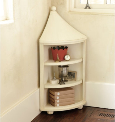 Finial Corner Cabinet - Transitional - by Ballard Designs