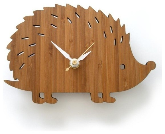 Modern Baby Clock - Hedgehog modern clocks