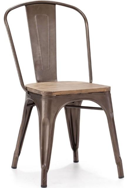 Elio Rustic Wood Chair - Contemporary - Dining Chairs - cincinnati ...