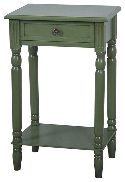 Vivid Collection Sage Green End Table - Beach Style - Side Tables And End Tables - by Fratantoni ...