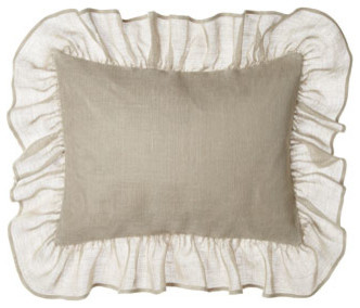 "Pine Cone Hill Standard Linen Sham w/ 6"" Ruffle traditional-shams"