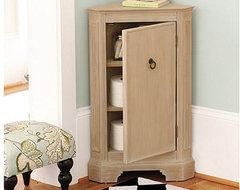 Miranda Corner Cabinet traditional-storage-cabinets