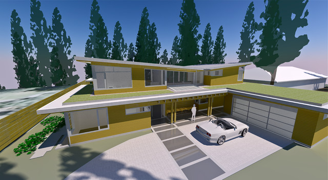 Butterfly House contemporary-rendering