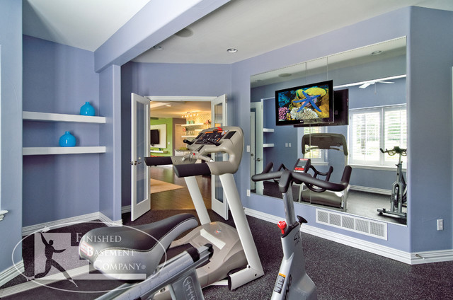 Basement Gym Workout Room - contemporary - home gym - denver - by ...