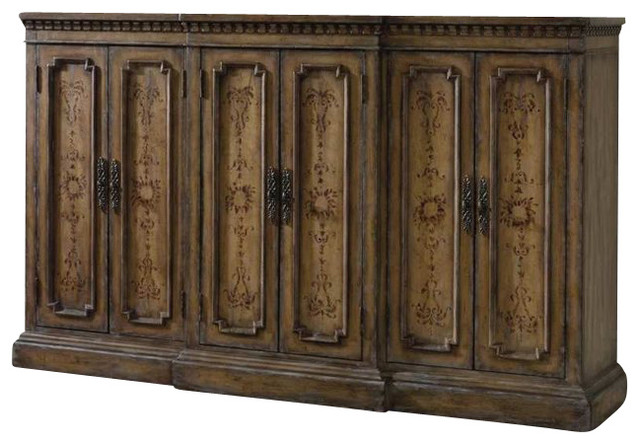 Hand-Painted Tall Credenza - Traditional - Buffets And Sideboards - by Cymax