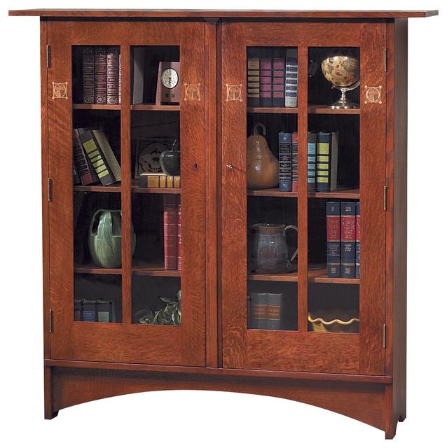 Stickley Harvey Ellis Bookcase w/Inlay 89/91-706 craftsman-bookcases
