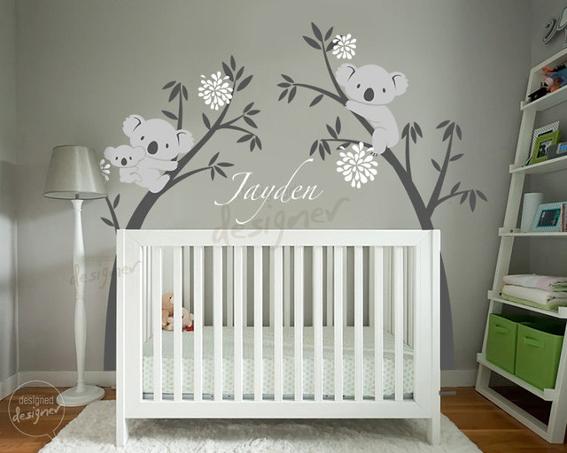 Kids wall decoration tropical nursery decor other for Babies decoration room