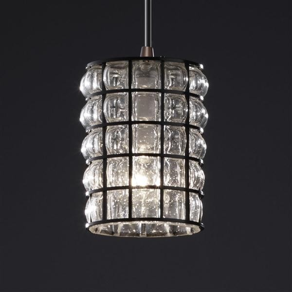Justice Design WGL-8815-10-GRCB-DBRZ Mini 1-Light Pendant pendant-lighting