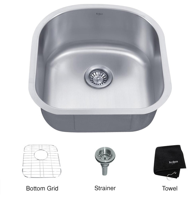 Kraus 20 inch Under mount Bowl Kitchen Sink modern-kitchen-sinks