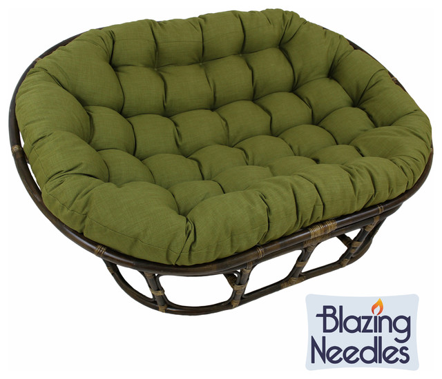 Blazing needles 48x65 inch indoor outdoor double papasan for Ariel chaise lounge