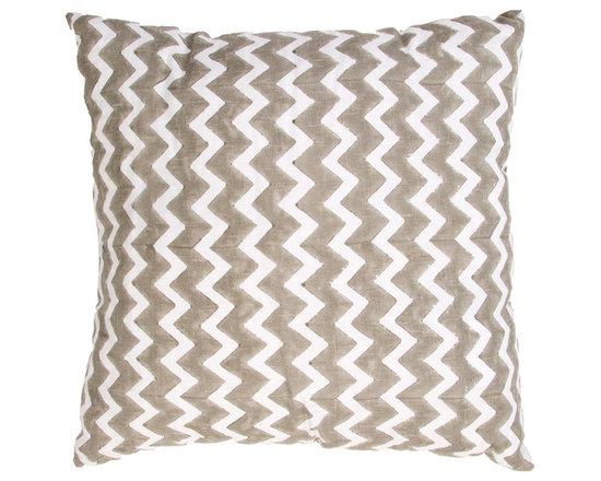 Jaipur - Mozambique Pillow, Gray, 22x22 Set of 2 - Funky range of pillows in poly dupione use rich jewel tones expressed in a highly textural and fun way. Perfect for a touch of retro glamour in your home.