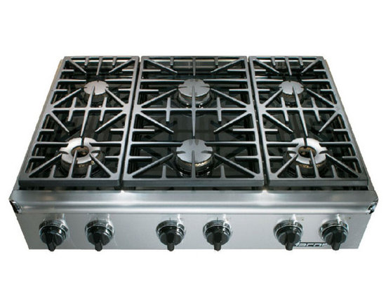 """Dacor Discovery 36"""" Gas Rangetop, Stainless Steel Natural Gas   EG366SCHNG -"""