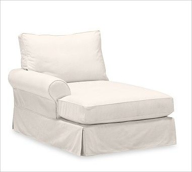 PB Comfort Roll Arm Left Arm Chaise, Down-Blend Wrap, Twill Cream traditional-indoor-chaise-lounge-chairs