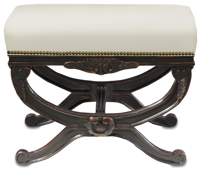 Currey and Company Exmoor Bench traditional-upholstered-benches