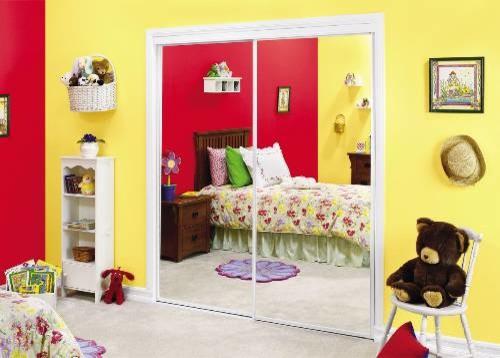 Savoy 95 X 80 Mirror Door White Asian Interior Doors