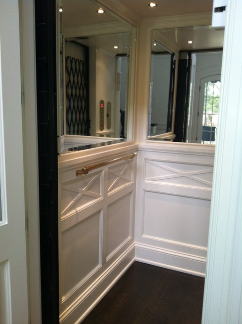 Classic Home Elevator Wainscot And Mirrors