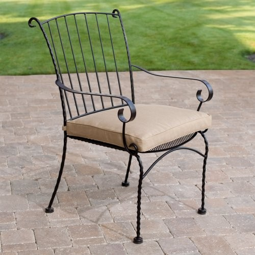 4 Seasons Sheraton Dining Arm Chair - Set of 2 contemporary-outdoor-lounge-chairs