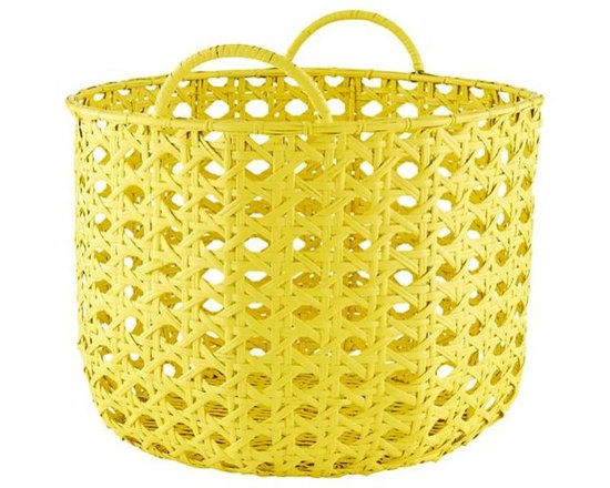 Lattice Floor Bin, Yellow -