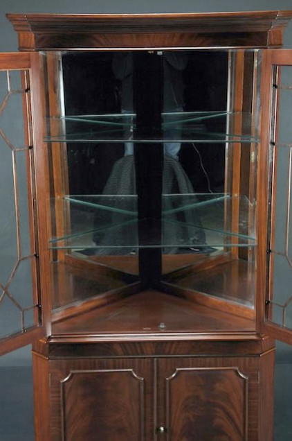 high end mahogany corner china cabinet for traditional dining room k
