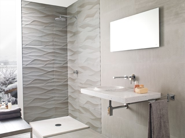 Porcelanosa aluminum leaf modern tile san francisco for Contemporary bathroom tiles