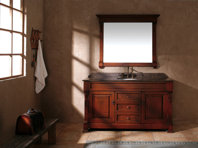 "60"" Bosco Single Bath Vanity - Oak traditional-bathroom-vanities-and-sink-consoles"