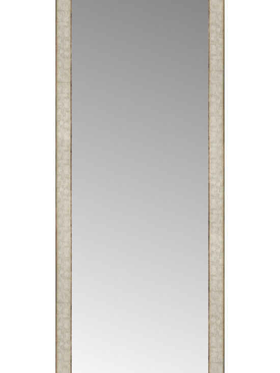 """Posters 2 Prints, LLC - 18"""" x 52"""" Libretto Antique Silver Custom Framed Mirror - 18"""" x 52"""" Custom Framed Mirror made by Posters 2 Prints. Standard glass with unrivaled selection of crafted mirror frames.  Protected with category II safety backing to keep glass fragments together should the mirror be accidentally broken.  Safe arrival guaranteed.  Made in the United States of America"""