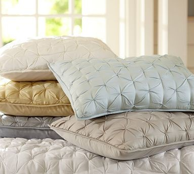 Isabelle Tufted Voile Sham, Standard, Ivory traditional-pillowcases-and-shams