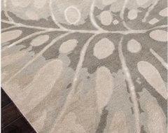 Jaipur Coastal Living Hand-Tufted Monstera Transitional Coastal Pattern Wool Tuf modern-rugs