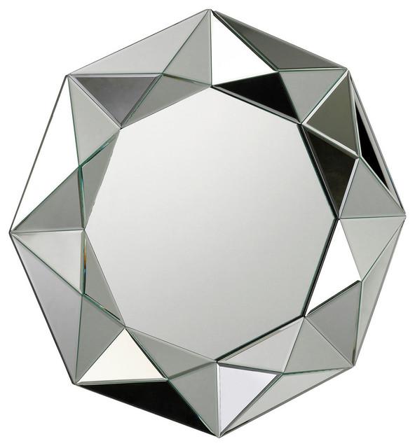 Geometric Mirror Framed Mirror Contemporary Wall