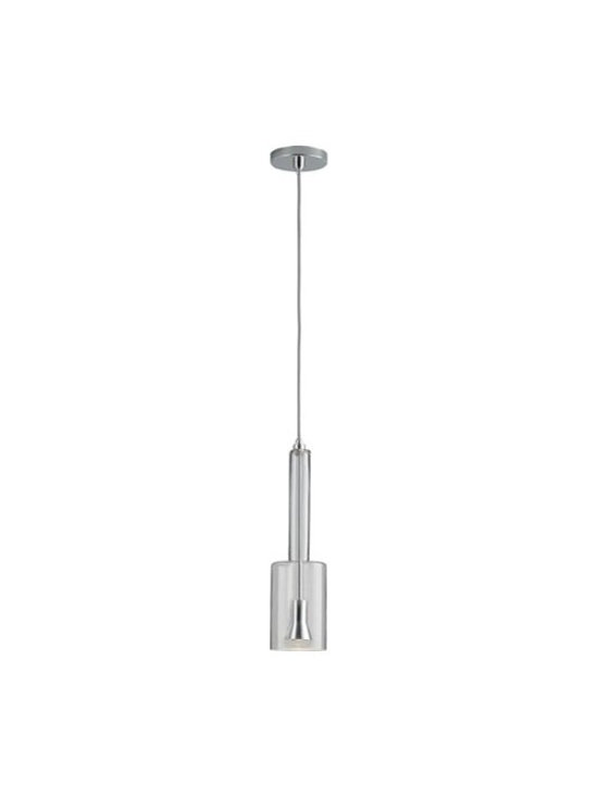 Oxygen Lighting - Oxygen Lighting | Spindle LED Pendant Light - Design by Oxygen Lighting. The Spindle LED Pendant Light combines an elegant, classic shape with LED technology to create a modern lighting fixture that is both timeless and functional. Suspended from a round canopy by a height adjustable wire, the shade of this modern pendant light is made from blown glass and houses the LED light source. When illuminated, light is cast downwards producing direct lighting ideal for use in hallways, over bedside tables or hung above kitchen counters.  Product Features: