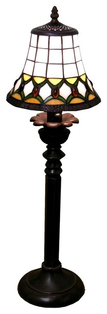 Jeweled Design Tiffany Style Table Lamp traditional-table-lamps