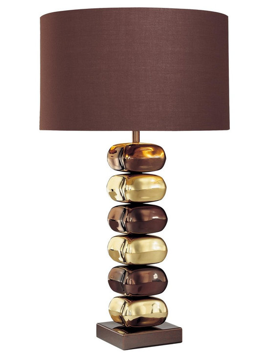 Lamp Shades Add Pizzazz! - This George Kovacs portable table lamp is a contemporary style lighting fixture bound to impress. George Kovacs is a pioneer in contemporary design and this lamp is a fine example of his artistry.