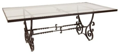 O.W. Lee San Cristobal 44 x 84 in. Glass Top Dining Table modern-patio-furniture-and-outdoor-furniture