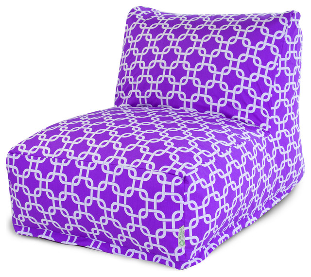Indoor Purple Links Bean Bag Chair Lounger contemporary-bean-bag-chairs