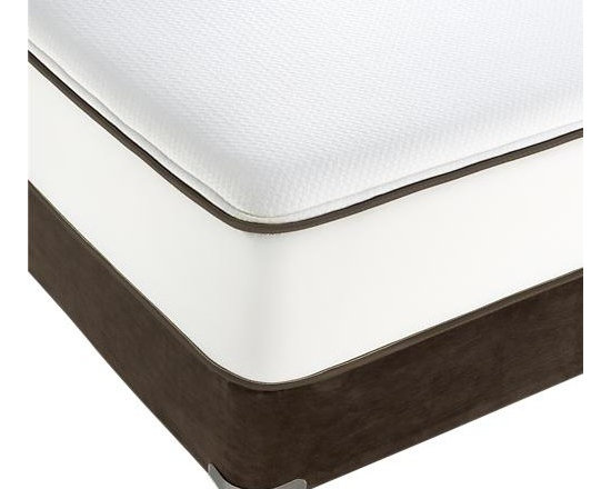 Simmons® Queen Beautyrest® Mattress - Our exclusive Simmons® Beautyrest® mattress requires no flipping, no rotating, no maintenance. High-quality construction features a patented, individually pocketed coil system to reduce the transfer of weight and movement from one side of the mattress to the other. Plush mattress top has a layer of patented Transflexion® Comfort Technology foam that's pre-stressed for improved durability, less compression and consistent comfort over time. Edges are constructed with a thick coil design for a more stable sleeping area, and a mesh border to improve airflow and breathability. Each mattress is covered in a luxurious stretch knit fabric that provides a smooth, even surface while conforming to contours and enhancing motion separation. Foundations sold separately.