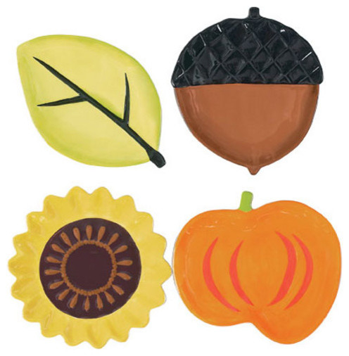 Be Thankful Shaped Plates modern-holiday-decorations