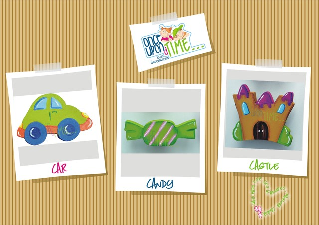 Hand made Car, Candy and Castle Drawer pulls modern-kids-decor