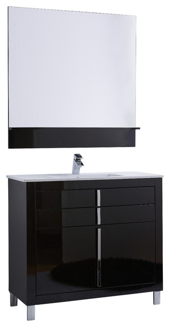 "40"" Roma Bathroom Vanity, Black contemporary-bathroom-vanities-and-sink-consoles"