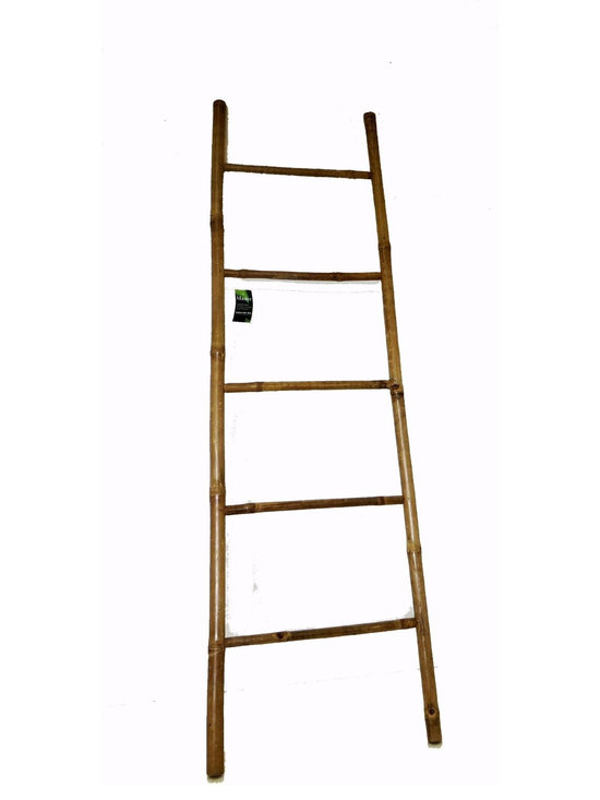 "Master Garden Products - Bamboo Ladder 6' H, 21""W x 72""H - This is the same bamboo ladder used for hundred of years in China and Japan. Strong, yet delicate in appearance. Use them as your imagination desires, bathroom towel rack, work ladder, decorative and more. Our bamboo ladder is both solid and decorative. The fine craftsmanship results in tight joints which are pinned in place with bamboo pins. No hardware or glues are used. Top of ladder: 17"" wide, bottom of ladder: 21"" wide"