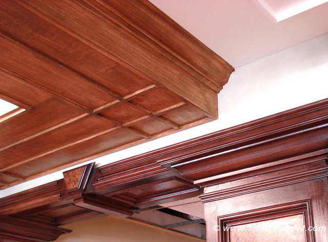 Coffered Ceilings And Beams Traditional By Trim Team Nj