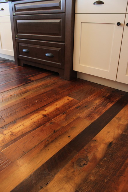 Weathered antique pine traditional hardwood flooring for Pine wood flooring