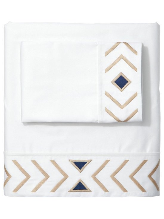 Sand/Navy Canyon Sheet Set