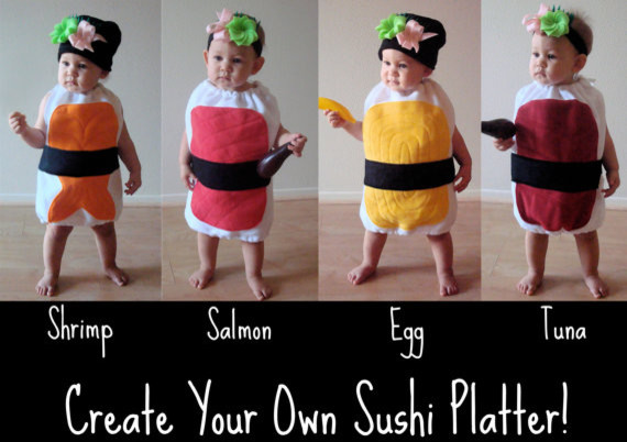 Delicious Nigiri Sushi Baby or Toddler Costume eclectic-kids-toys-and-games