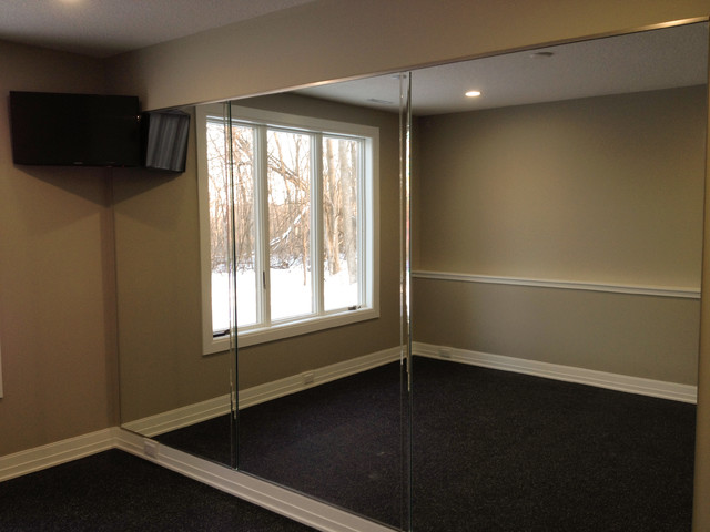 Mirror Wall In Home Gym Other Metro By Ford Metro Inc