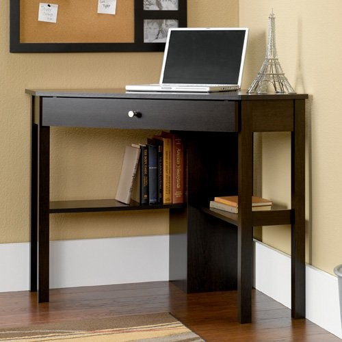Sauder Corner Computer Desk - Cinnamon Cherry traditional-desks