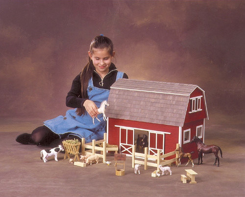 Ruff 'n Rustic All American Barn Dollhouse - Modern - Kids Toys And ...