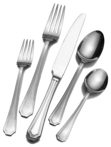 Wallace Arlington 18/10 65 Piece Flatware Set - modern - flatware