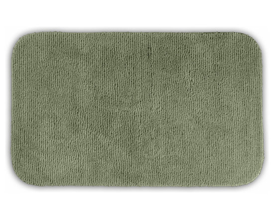 "Sands Rug - Cheltenham Deep Fern Washable Runner Bath Rug (2' x 3'4"") - Add a layer of plush comfort and safety with the inviting Cheltenham bath and spa rug collection. Each piece, whether a bath runner, bath mat or contoured rug, is created from soft, durable, machine-washable nylon. Each floor piece is backed with skid-resistant latex for safety."