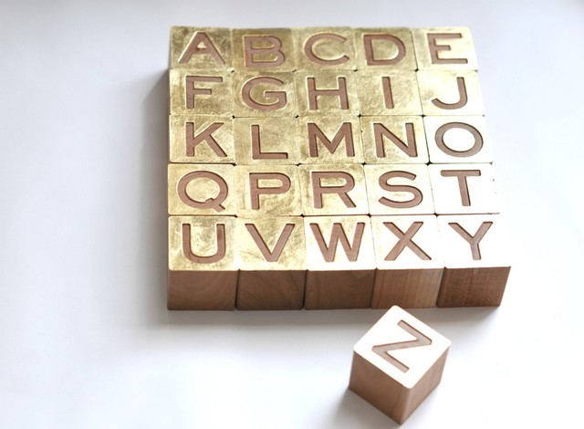 Gilded Alphabet Set modern accessories and decor