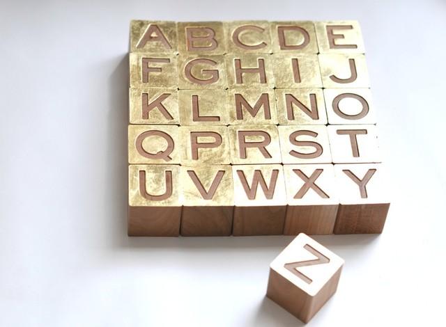 Gilded Alphabet Set modern-accessories-and-decor